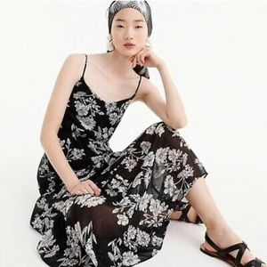 NWT J. Crew Mercantile Tiered Chiffon Maxi Dress